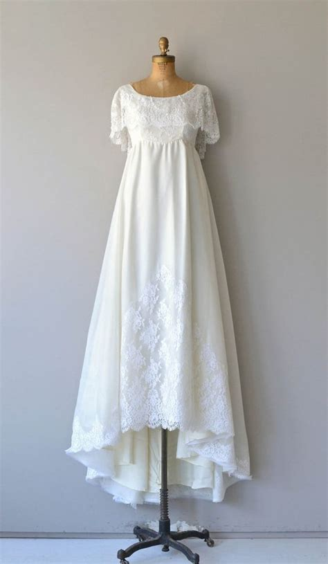 Niara Dress niara wedding gown vintage 1970s wedding dress empire