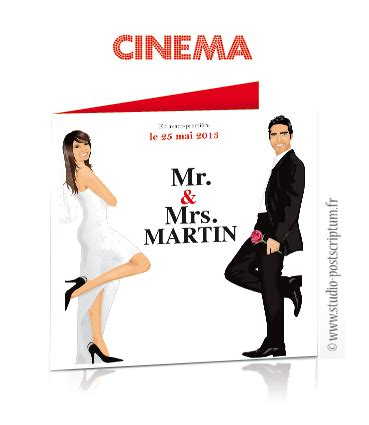 Faire Part De Mariage Original Affiche Cinama Mr Mrs Smith Av With Black And White Lace Wedding Mr And Mrs Smith Save The Date Template