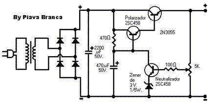 circuito eletronico de fonte regulada   amperes
