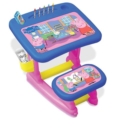 Child Activity Desk by Peppa Pig Pepc001 Children Colouring On Drawing