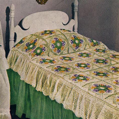 Crochet Comforter by Crocheted Pansy Motif Bedspread Patterns