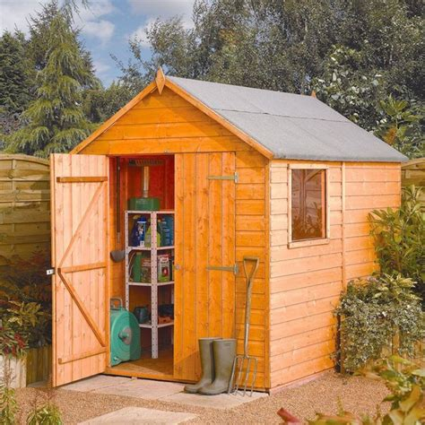 6ft X 8ft Shed by Buy Rowlinson Wooden Modular Shed 8ft X 6ft At Argos Co