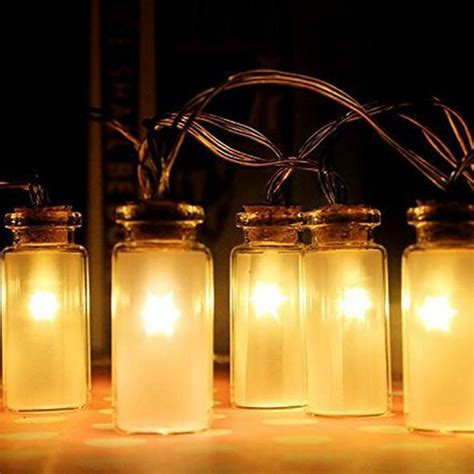 battery operated patio string lights jar string lights garden deck patio lighting battery