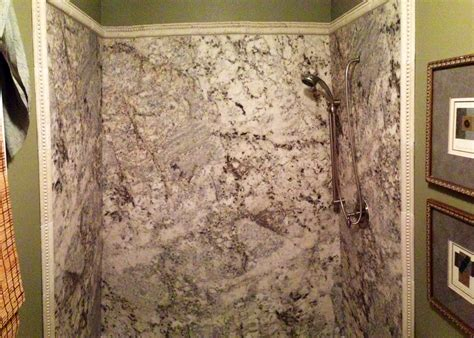 Simulated Marble Shower Walls tyvarian 174 by imi oyster shower surrounds installed international marble industries inc