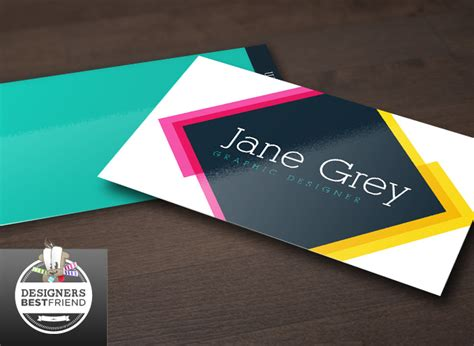 graphic visiting cards design templates free modern pink and yellow business card template
