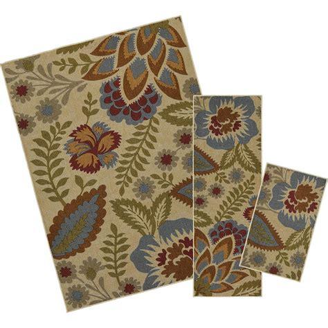 mohawk floral rug mohawk home crewel floral spice 5 ft x 7 ft 3 rug set 002464 the home depot