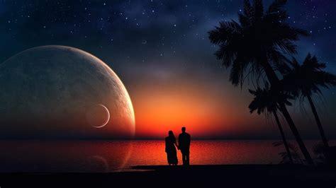 imagenes de parejas romanticas en la noche fondos de paisajes rom 225 nticos