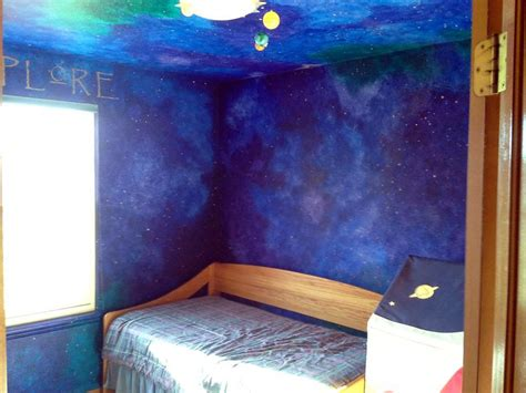 galaxy themed bedroom galaxy blue wall paint how to paint a star night sky