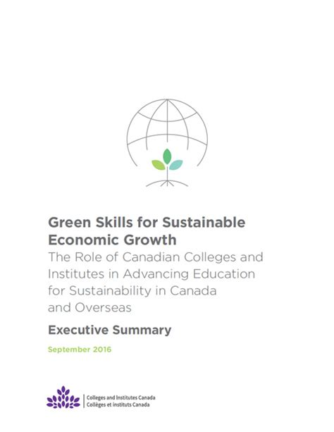 green skills for sustainable economic growth executive