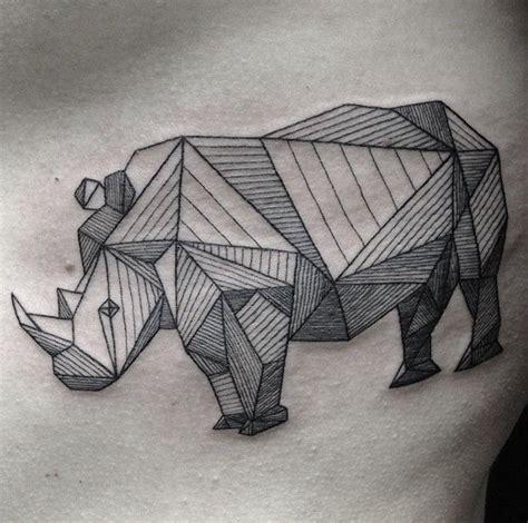 geometric tattoo rhino 277 best origami tattoos geometrics images on pinterest