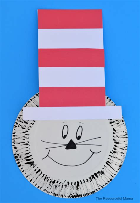 Paper Plate Dr Seuss Cat In The Hat Craft