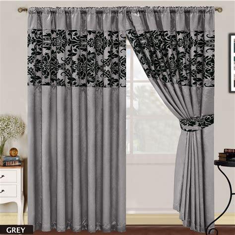 curtains half window luxury damask curtains pair of half flock pencil pleat
