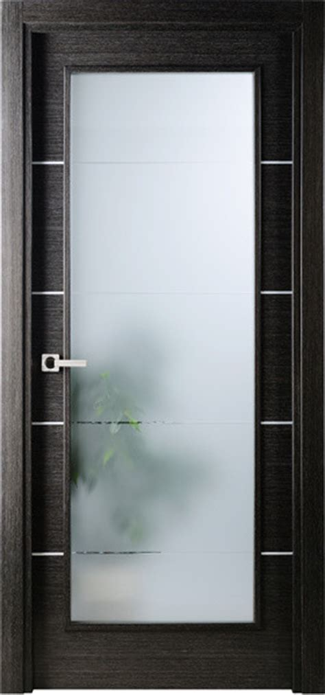 Modern Interior Single Door Italian Black Apricot With Interior Wood Doors With Frosted Glass