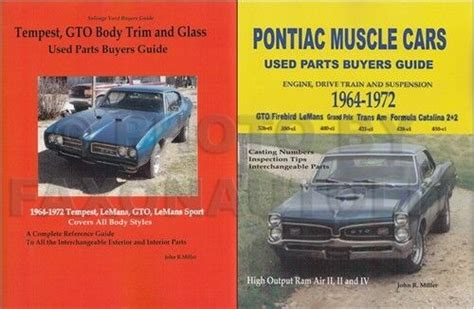 how to download repair manuals 1964 pontiac lemans parental controls 1964 1972 gto and tempest parts id and interchange manual set pontiac lemans ebay