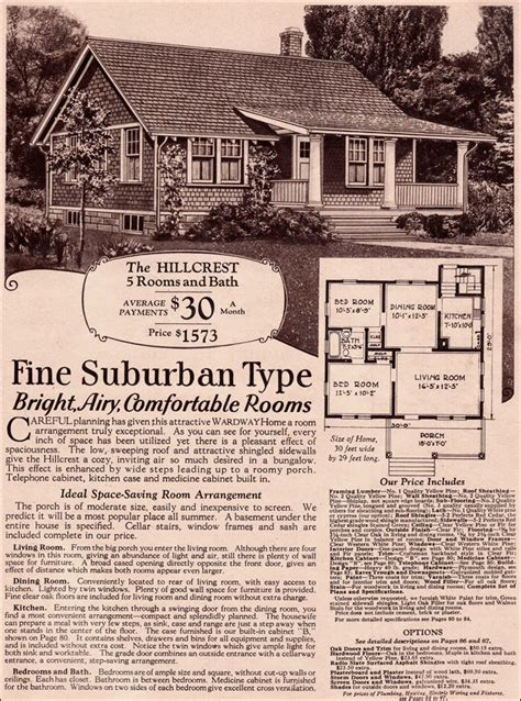 Montgomery Ward House Plans Wardway Hillcrest Side Gabled Vernacular Cottage 1930 Kit Homes Hillcrest By Montgomery Ward