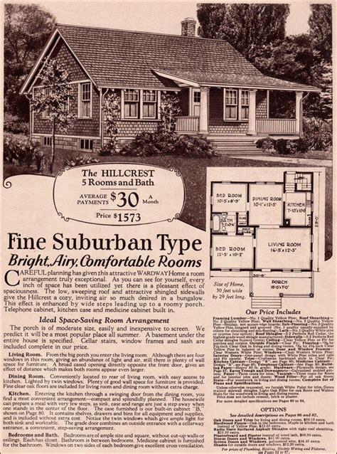 Wardway Hillcrest Side Gabled Vernacular Cottage 1930 Montgomery Ward House Plans
