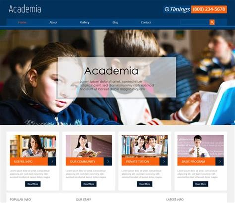 education website sle exle template college
