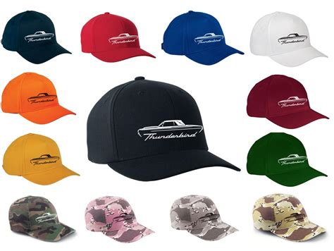 design clothes and hats 1964 66 ford thunderbird classic outline design hat cap new