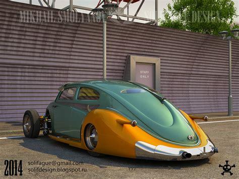 This Volkswagen Beetle Hotrod Rendering Should Become Real   autoevolution