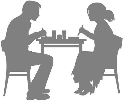 clipart ristorante in a restaurant silhouette free vector silhouettes