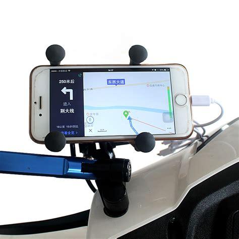 Handgrip Warna x grip holder motor smartphone dengan usb 12v 2a black jakartanotebook