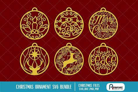 christmas ornaments svg bundle digitanza