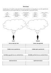challenging stereotypes activities worksheet gender stereotypes