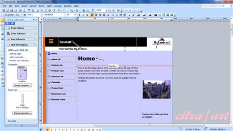 membuat website organisasi cara membuat web site melalui microsoft publisher fazhacitra