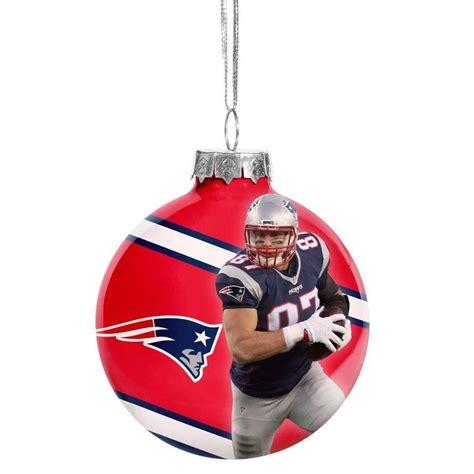 new england patriots christmas tree glass ball ornament