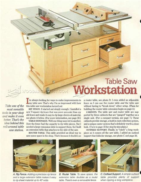table saw station plans 3248 best images about workshop ideas on