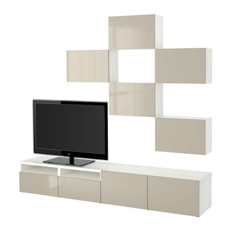 besta beige best 197 tv storage combination white selsviken high gloss