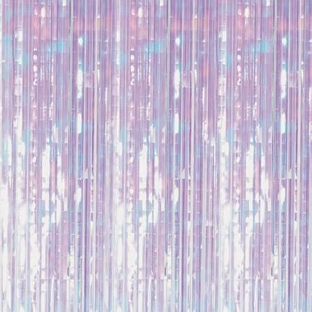 iridescent fringe curtain iridescent fringe curtain m n party store