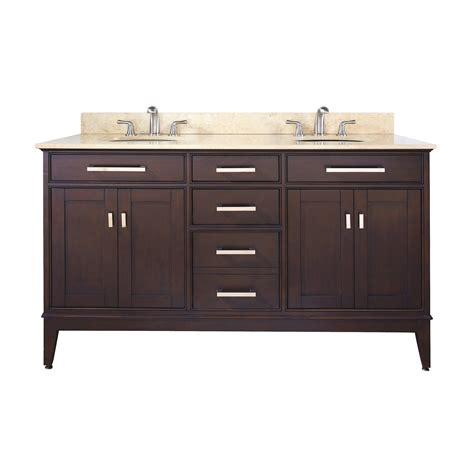 double bathroom vanities lowes avanity madison vs60 madison 60 in bathroom vanity with