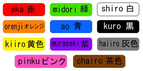 colors in japanese japanese colours duncansensei japanese