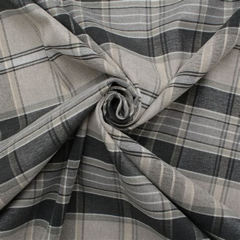 cheap plaid curtains designer discount linen look tartan check plaid curtain