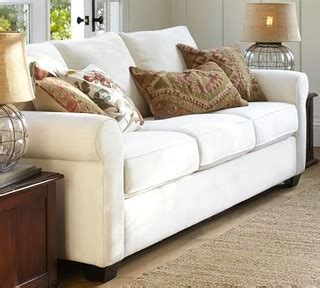 buchanan sofa pottery barn buchanan upholstered sofa polyester wrap cushions