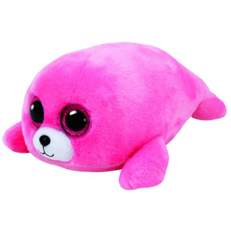 beanie boo beanie boo the pink seal mr toys toyworld
