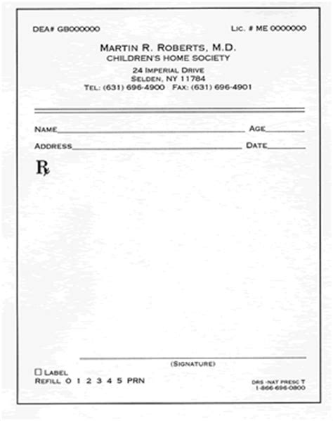 free prescription template prescription pads
