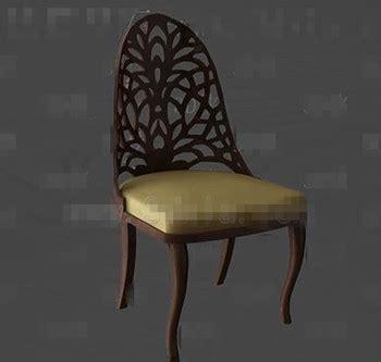 max colch n silla de madera colch 168 174 n de oro 3d model download free 3d