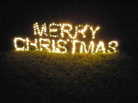 details large lighted merry christmas sign outdoor yard