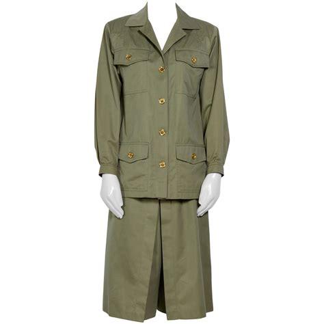 38 Jaket Jupe vintage 70 s khaki safari jacket and jupe culotte