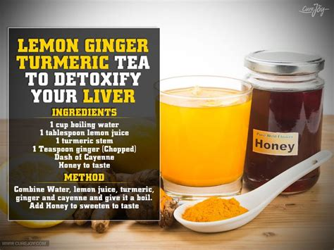 Spices Detox Liver by Lemon Turmeric Tea To Detoxify Your Liver Warm