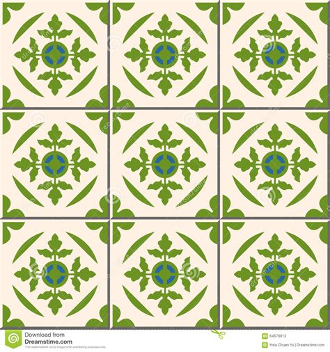 green patterned tiles vintage seamless wall tiles of green leaf moroccan