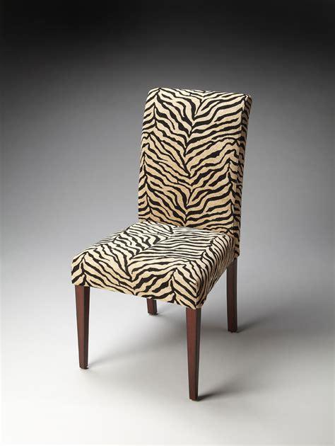 Print Parsons Chair Butler 2956983 Parsons Chair Zebra Print Fabric Bt