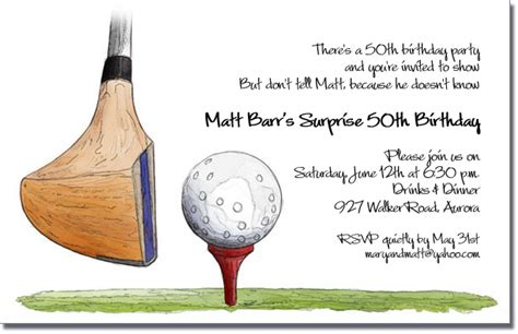 Wedding Anniversary Outing Ideas by Golf Driver On Invitations Golf Outing Invitations
