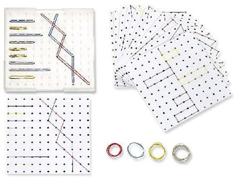 lenwelt de geometriebrett 23 x 23 cm transparent mit vorlagen