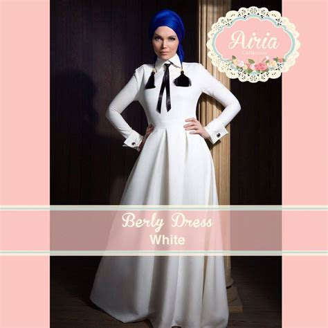 dress code kode busana berly dress white baju muslim gamis