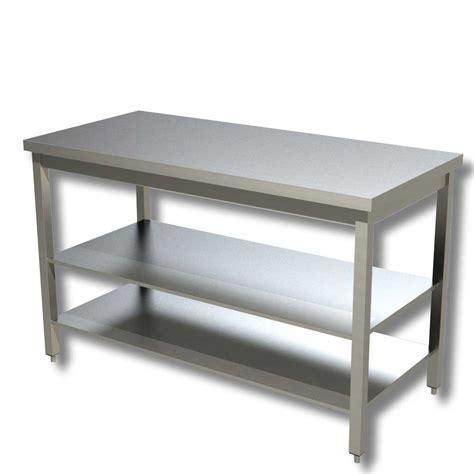 tavolo da lavoro in acciaio ristopro tavolo da lavoro in acciaio con doppio ripiano