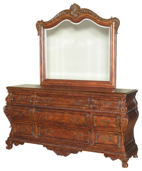 Vanity And Dresser by 6ft Wide Mahogany Bombe 9 Drawer Vanity Chest