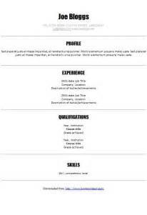 centred modern cv template how to write a cv